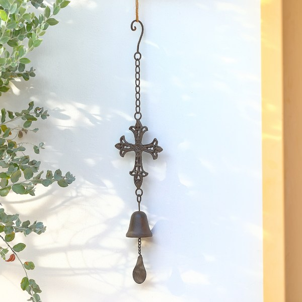 Outdoor Cross Wind Chimes Real shot 1