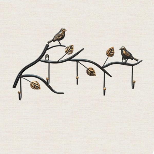 black birds wall hooks