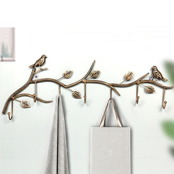 gold birds wall hooks Real shot