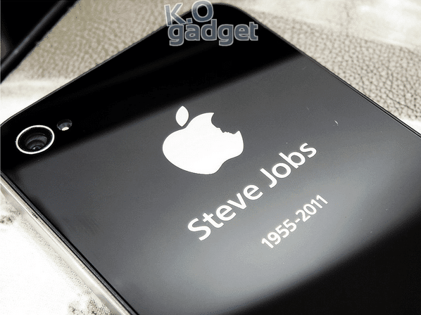 Tribute Steve Jobs On Your IPhone 4S 4 With IPhone For Steve Rear Panel Mod