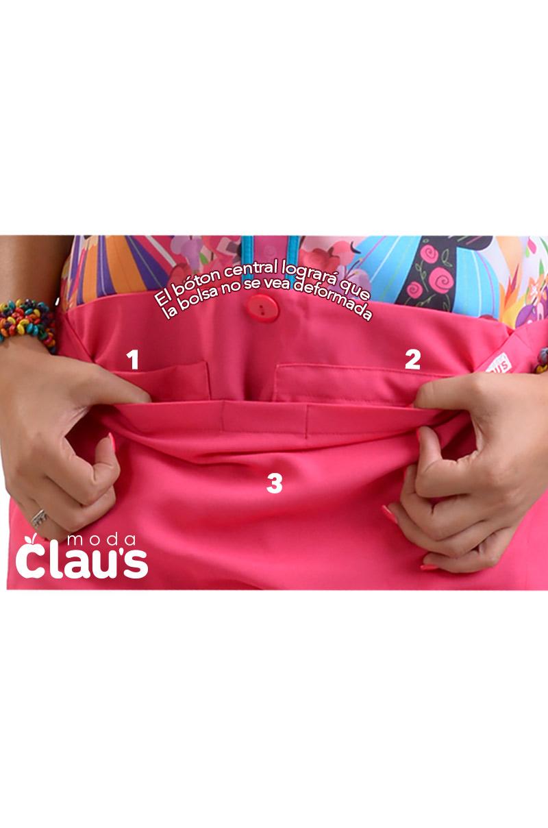 mandil para educadora con bolsa amplias