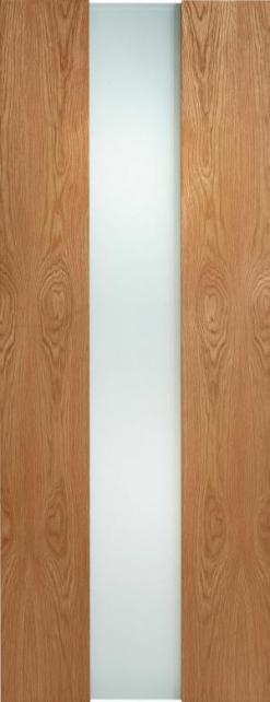 LPD Internal Oak Zaragoza Full Frosted Glass Door