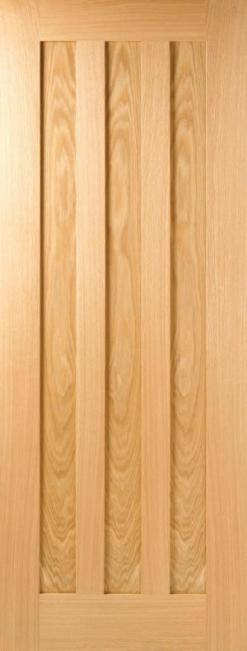 LPD Internal Oak Idaho 3 Panel Door