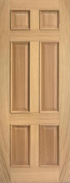 LPD Internal Oak Regency 4 Panel Raised Mouldings Door