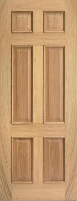 LPD Internal Oak Regency 4 Panel Raised Mouldings Door