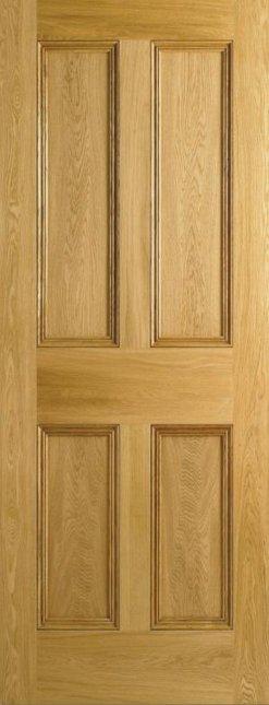 LPD Internal Oak 4 Panel Flat Panel Door