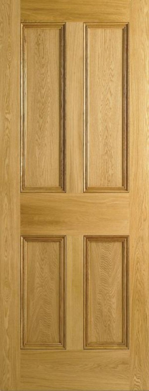 LPD Internal Oak 4 Panel Flat Panel Door