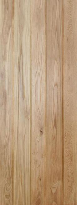 LPD Internal Butt'N'Bead Solid Rustic Oak Ledged Door