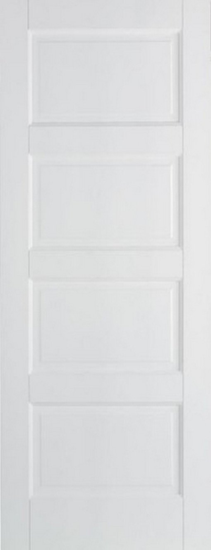 LPD Internal White Contemporary 4 Panel Fire Door