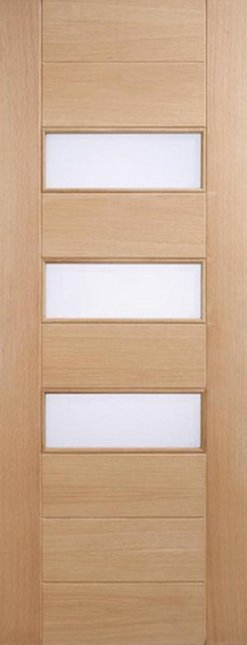 LPD External Stockholm Oak Frosted Glass Door