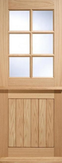 LPD External Oak 6 Light Glazed Stable Cottage Style Door