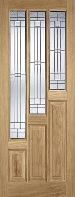 LPD External Coventry Oak with Elegant Zinc Glass Door