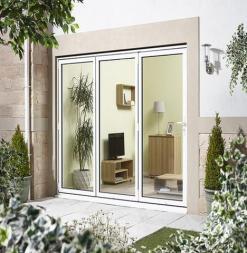LPD External 2.4m ALUVU (8ft) Aluminium Bi-Fold Door Set in a White Finish (Right Hand Opening)