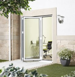 LPD External 1.8m ALUVU (6ft) Aluminium Bi-Fold Door Set in a White Finish (Right Hand Opening)