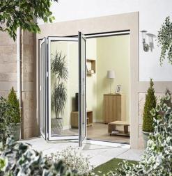 LPD External 2.4m ALUVU (8ft) Aluminium Bi-Fold Door Set in a White Finish (Left Hand Opening)