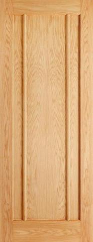 LPD Internal Oak Lincoln 3 Panel Fire Door