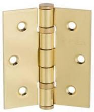"Atlantic Handles 3"" x 2.5"" x 2.5mm Ball Bearing Pair of Hinges in a Polished Brass Finish"