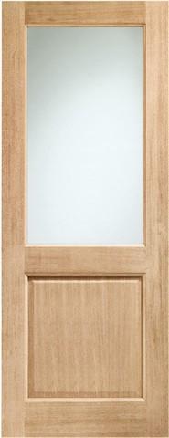 XL Joinery External Oak Dowelled Double Glazed 2XG with Clear Glass Door