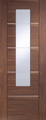 XL Joinery Internal Glazed Walnut Pre-Finished Portici Door