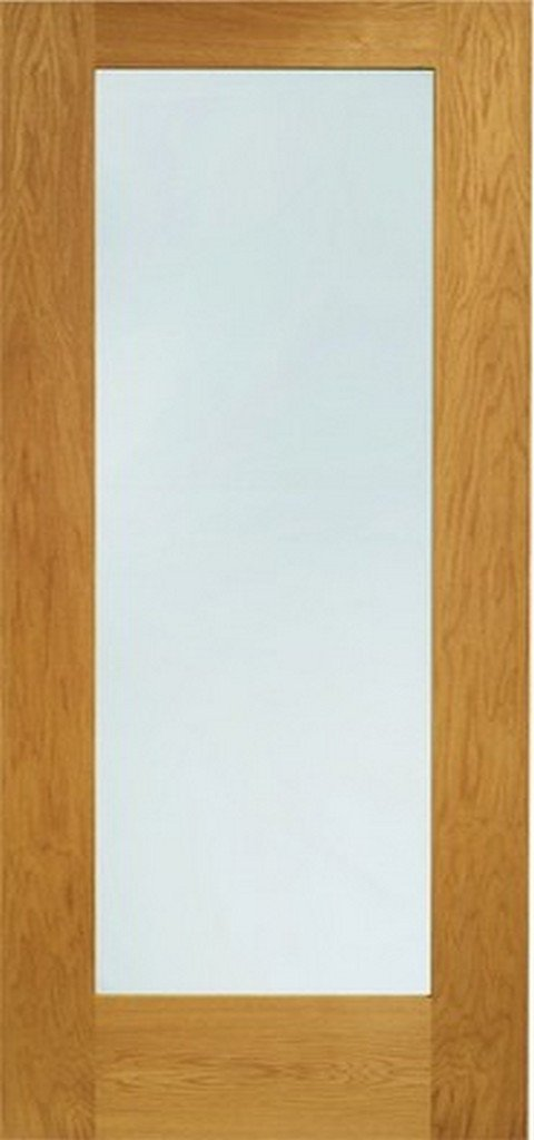XL Joinery Pre-Finished External Oak Double Clear Glazed Pattern 10 Door Set