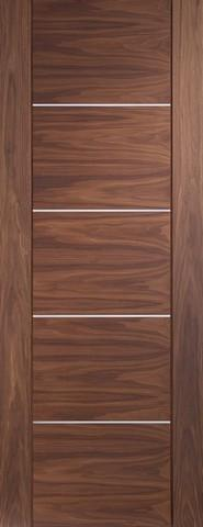 XL Joinery Internal Walnut Pre-finished Portici Fire Door