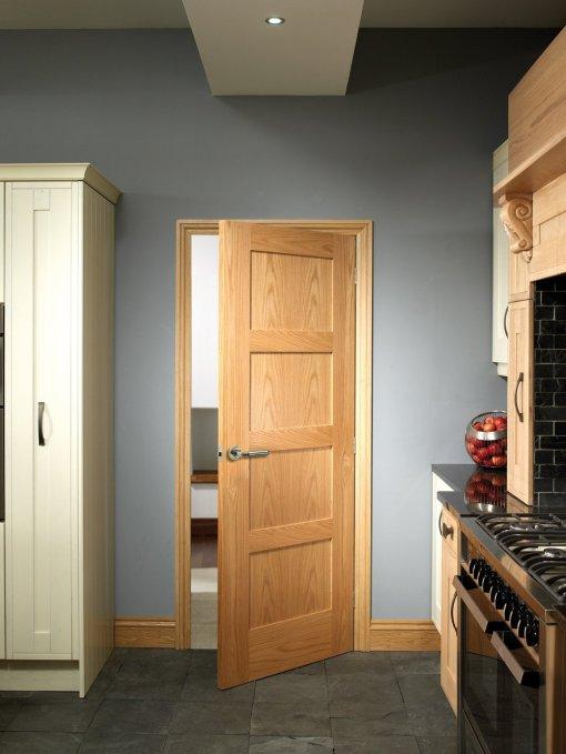XL Joinery Internal Oak Pre-Finished Shaker 4 Panel Door