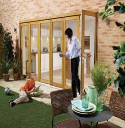 LPD External 2.1m NUVU (7ft) Oak Unfinished Bi-Fold Doors with a 3+0 Configuration