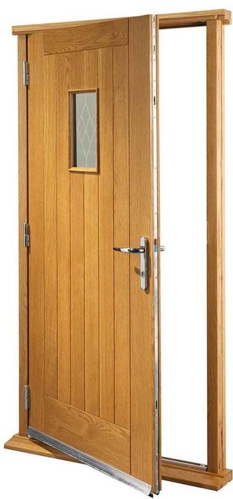 XL Joinery Pre-Finished External Oak Double Glazed Chancery Door Set