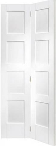 XL Joinery Internal Solid White Primed Shaker 4 Panel Bi-Fold Door