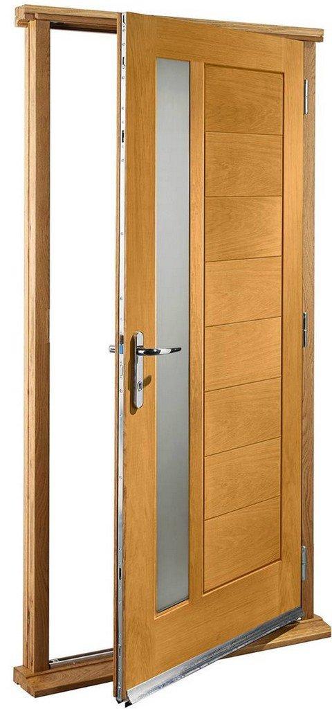 XL Joinery Pre-Finished External Oak Double Obscure Glazed Modena Door Set