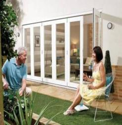 LPD External 4.2m NUVU (14ft) White Bi-Fold Doors with a 5+1 Configuration