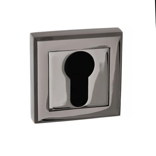 Atlantic Handles Status Square Rose Euro Escutcheon in a Black Nickel Finish