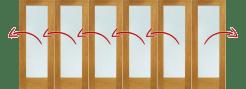 LPD External 4.2m NUVU (14ft) Oak Pre-Finished Bi-Fold Doors with a 5+1 Configuration