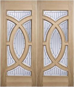 MODA Doors External Majestic Oak IG Zinc Double Entrance Door