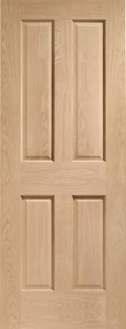 XL Joinery Internal Oak Victorian 4 Panel Door