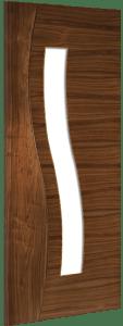 Deanta Doors Internal Cadiz Walnut Glazed Pre-Finished Door