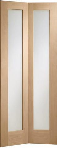 XL Joinery Internal Oak Pattern 10 Bi-Fold with Clear Glass Door