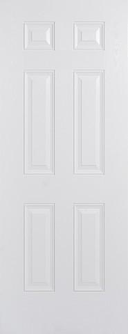 LPD External GRP White Colonial 6 Panel Door