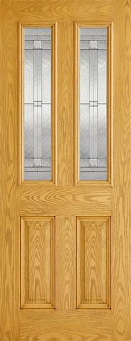 LPD External GRP Oak Malton Glazed Door