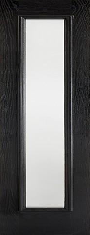 LPD External GRP Black & White Frosted Sidelight