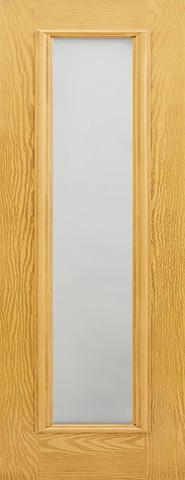 LPD External GRP Oak Frosted Sidelight