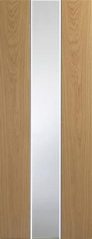 XL Joinery Internal Pre-Finished White & Oak Pescara Fire Door