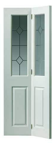 JB Kind Internal White Canterbury Grnd 2 Light Bi-Fold Door