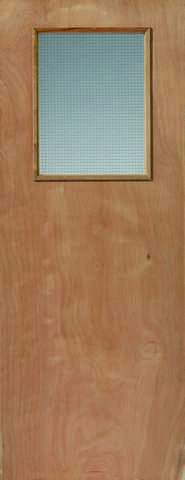 JB Kind Internal Ply Flush 1 Glazed Fire Door