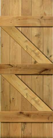 JB Kind Internal Ledged and Braced Unfinished Door