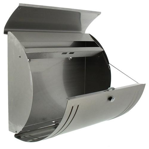 Burg-Wachter Modena 3857 Ni Post Box in Stainless Steel