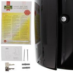 Burg-Wachter Piano 886 S Post Box in Black