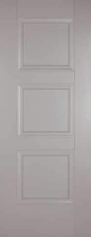 LPD Internal Grey Amsterdam 3 Panel Primed Fire Door
