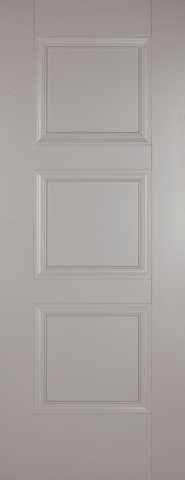LPD Internal Grey Amsterdam 3 Panel Primed Fire Door