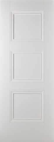 LPD Internal Amsterdam 3 Panel White Primed Fire Door